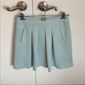 Loft sky blue a-line skirt